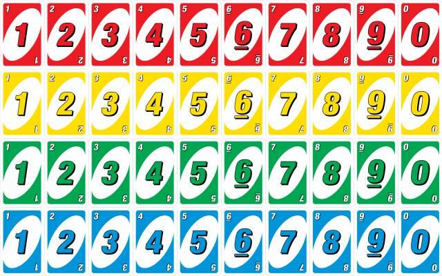 بازی کارتی اونو: تصویر کارتها