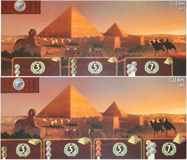 آموزش بازی سون واندرز (عجایب هفتگانه) : کارتهای عجایب هفتگانه